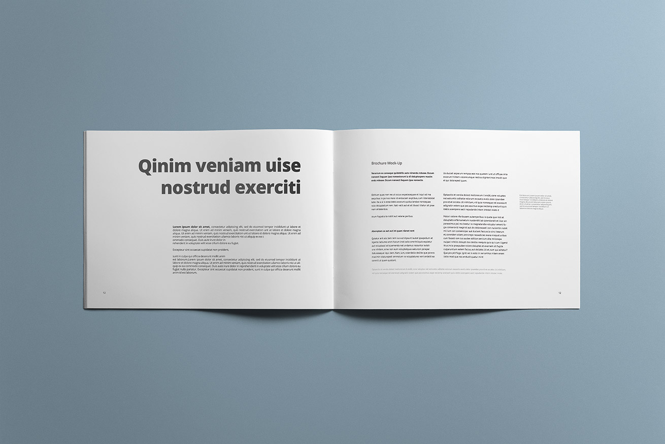 How To Get Easy Money >> Landscape Brochure Mockup | Mockup Cloud