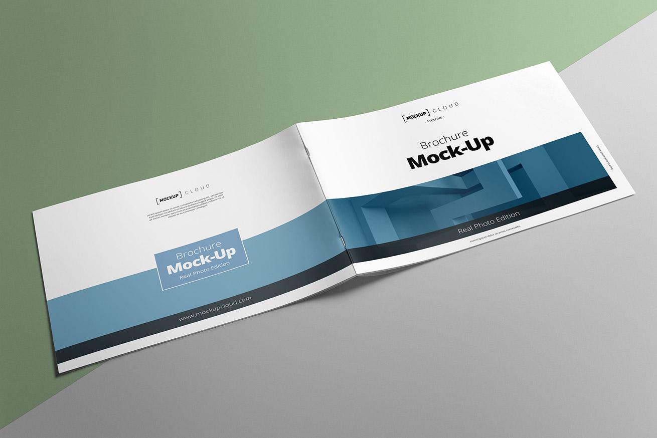 Landscape Brochure Mockup Mockup Cloud