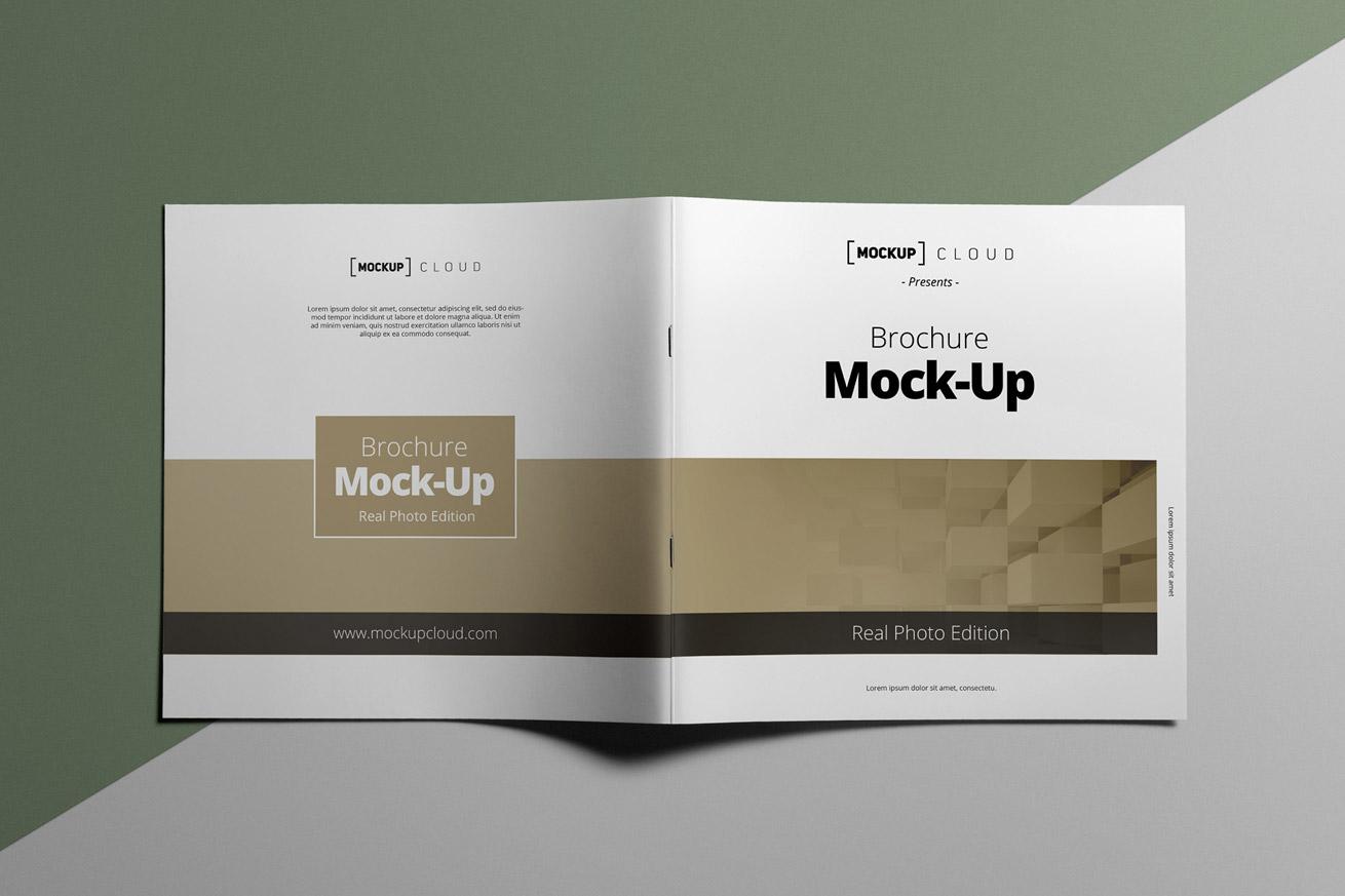 Square Brochure Mockup | Mockup Cloud