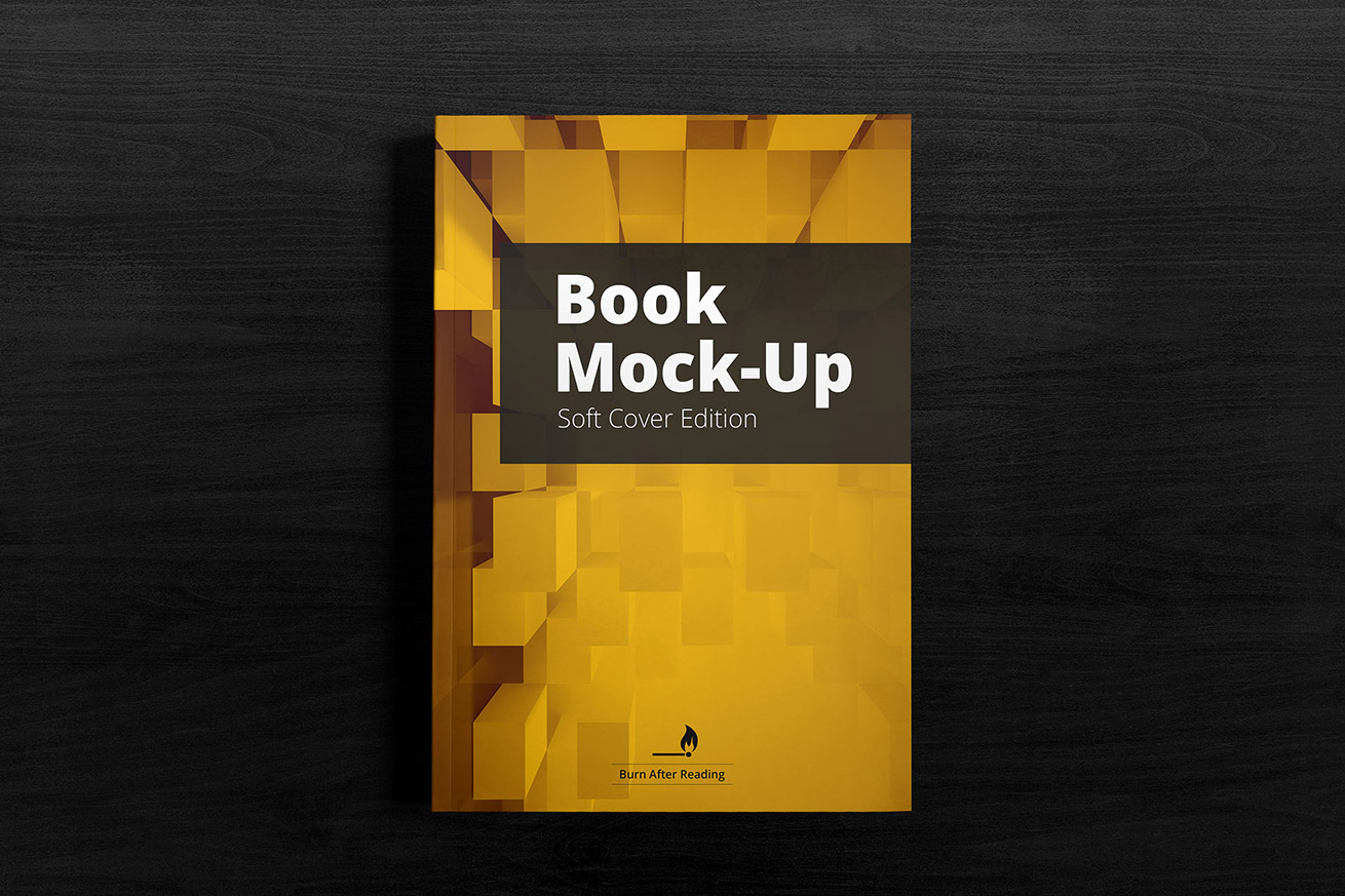 Soft Cover Book Mockup Template : Soft cover book mockup cloud