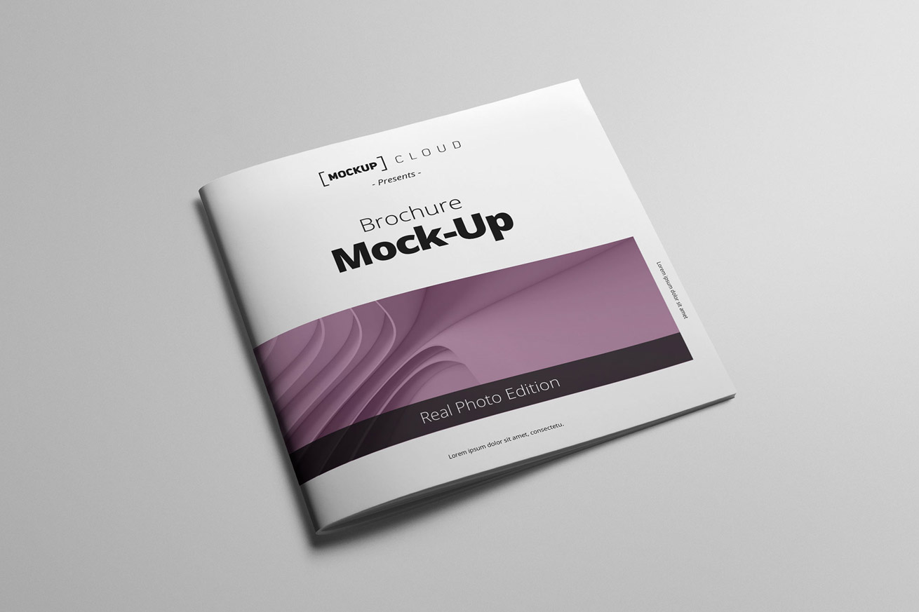 Square Brochure Mockup Cloud