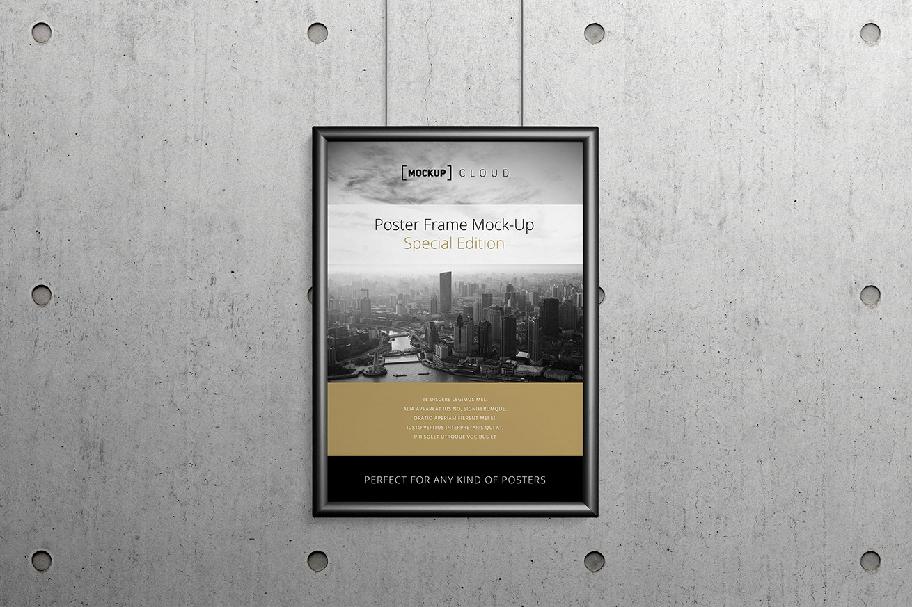 Poster Frame Mockup | Mockup Cloud